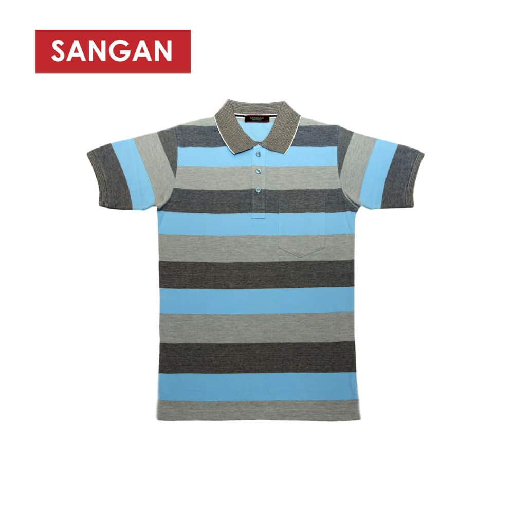 Short Sleeves Polo T-Shirt Stripes PC, JI545