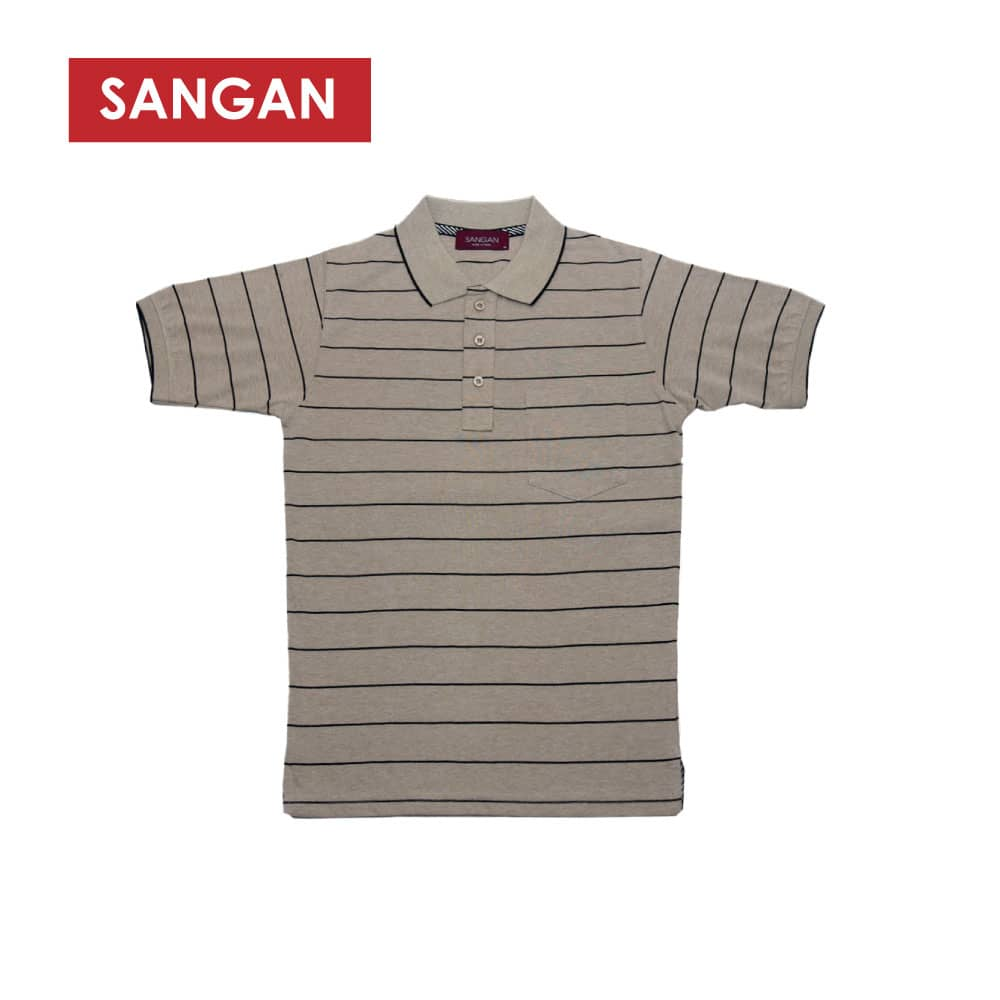Short Sleeves Polo T-Shirt Stripes PC, JI659