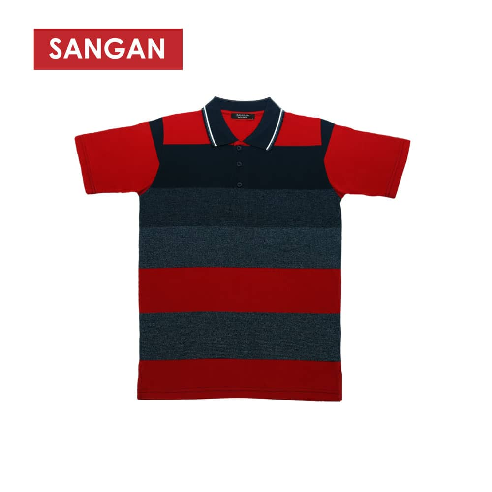 Short Sleeves Polo T-Shirt Stripes PC, JI825