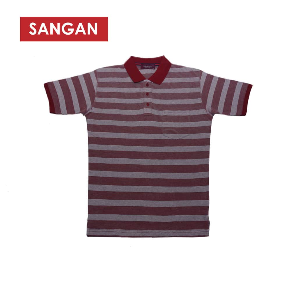 Short Sleeves Polo T-Shirt Stripes PQ, JI570