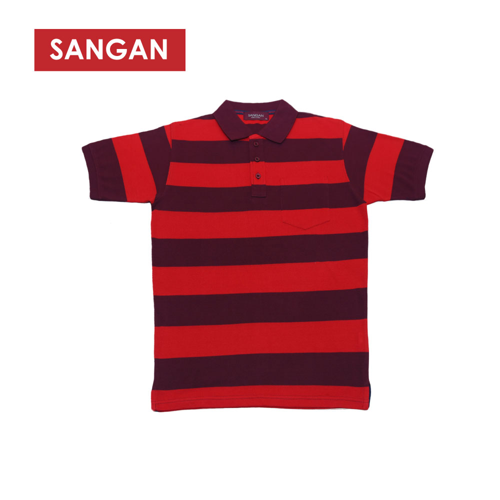 Short Sleeves Polo T-Shirt Stripes PQ, JI583