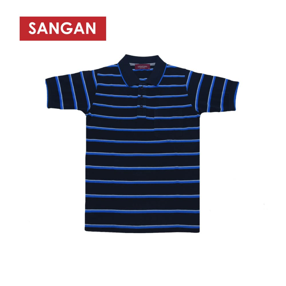 Short Sleeves Polo T-Shirt Stripes PQ, JI843