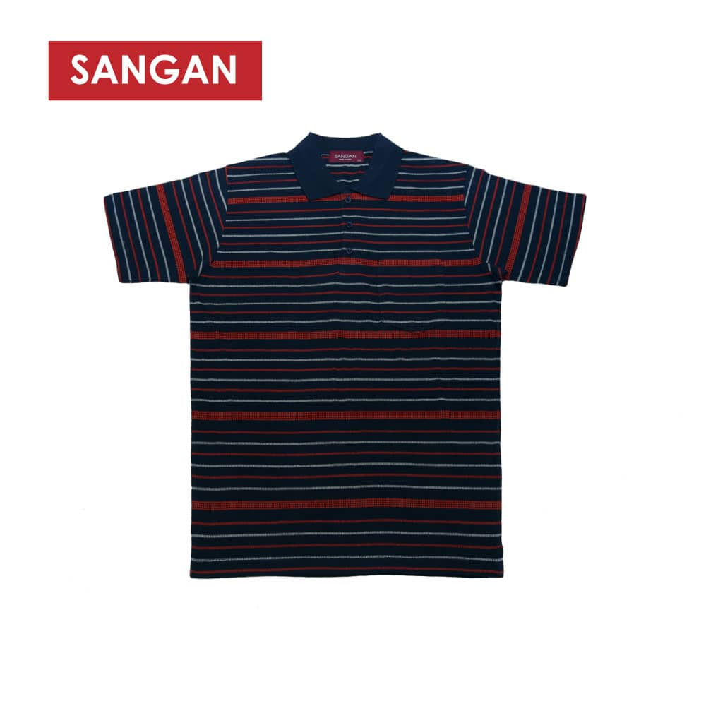 Short Sleeves Polo T-Shirt Stripes Jacquard, JI782