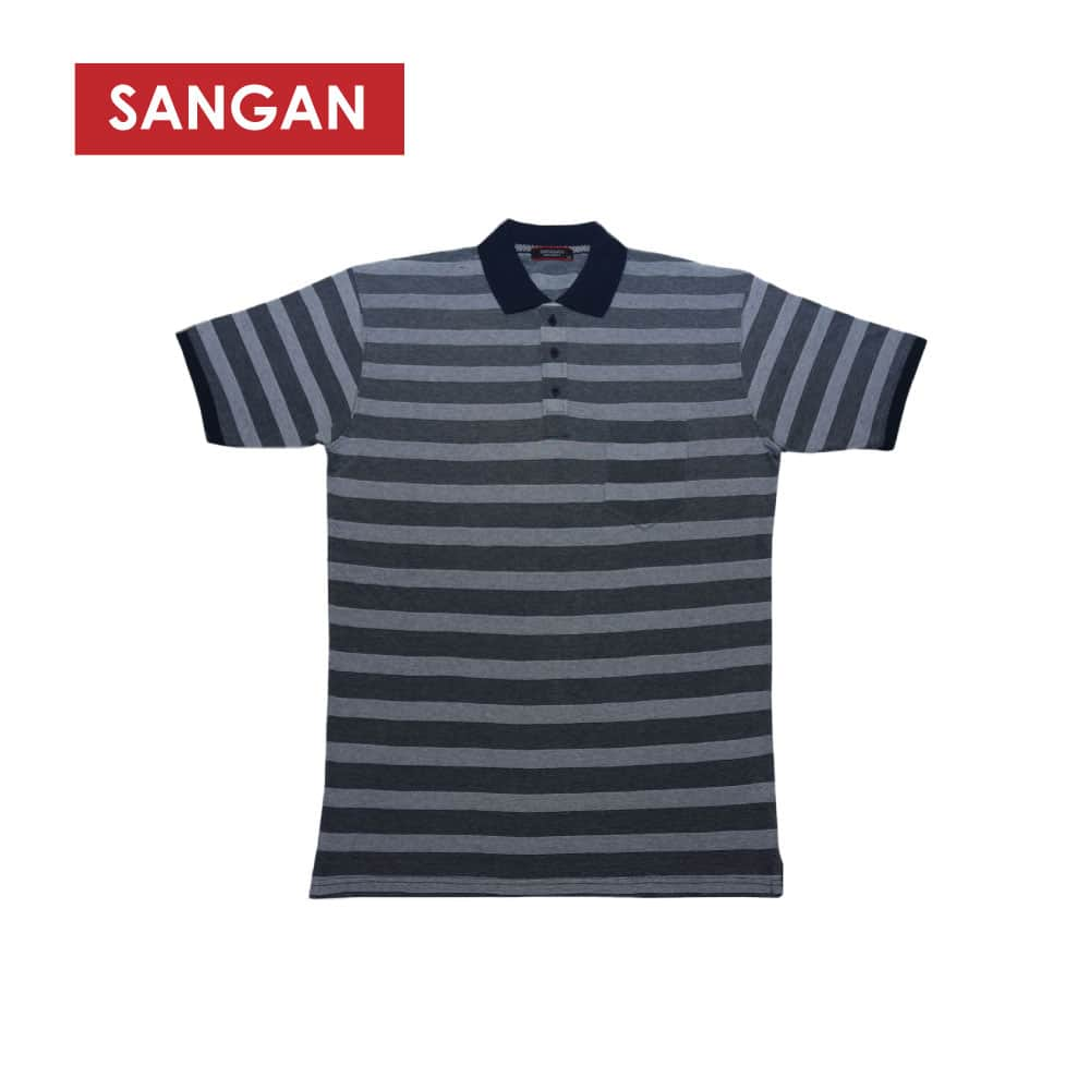 Short Sleeves Polo T-Shirt Stripes PQ Big Size, JI570B