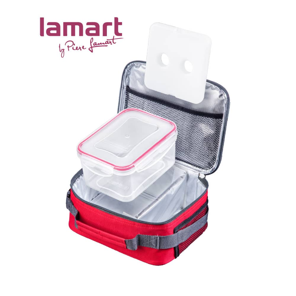 Cooler Bag With Gel Ice Pack & Plastic Box., LT5-LT6022