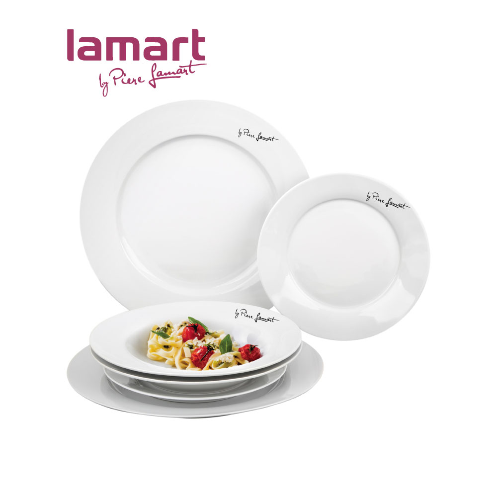 Rounded Ceramic Plate Set 6 PCS, LT2-LT9001
