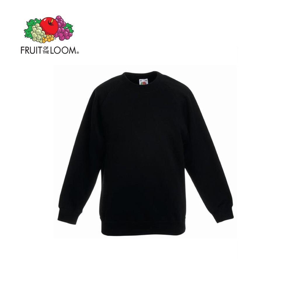 FRUIT OF THE LOOM KIDS RAGLAN SWEATSHIRT, FOL620390