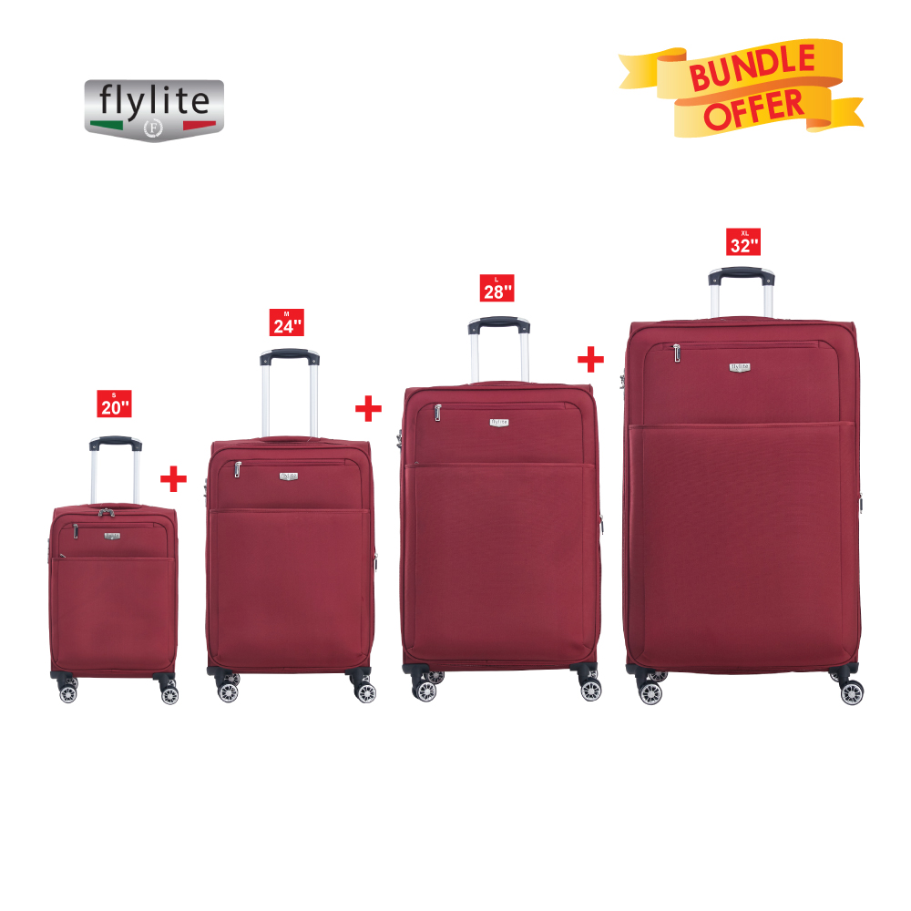 FLYLITE 4W TRL (SET4 PCS)BURGANDY RED 32