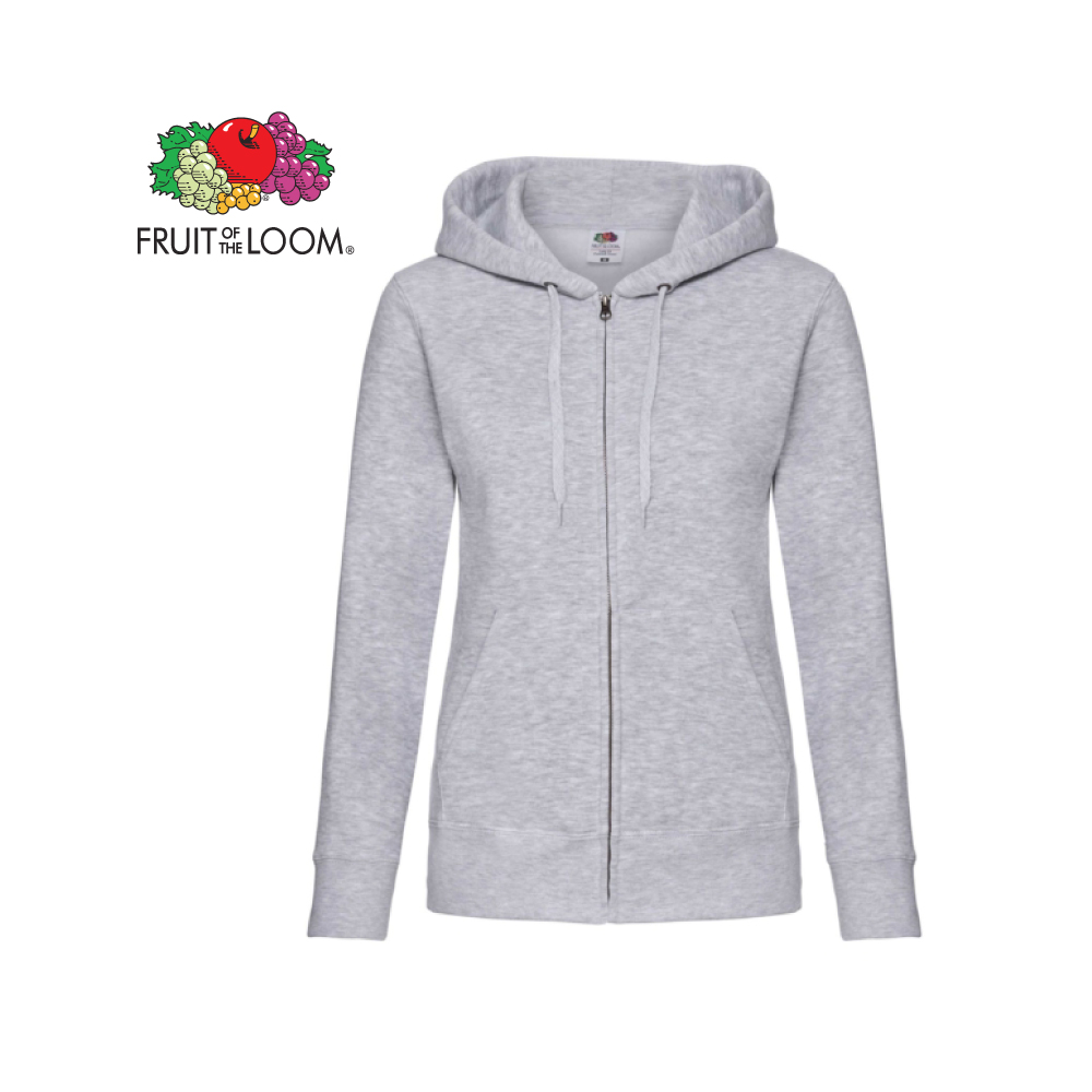 Ladies Premium Hooded Sweat Jacket, FOL0621180