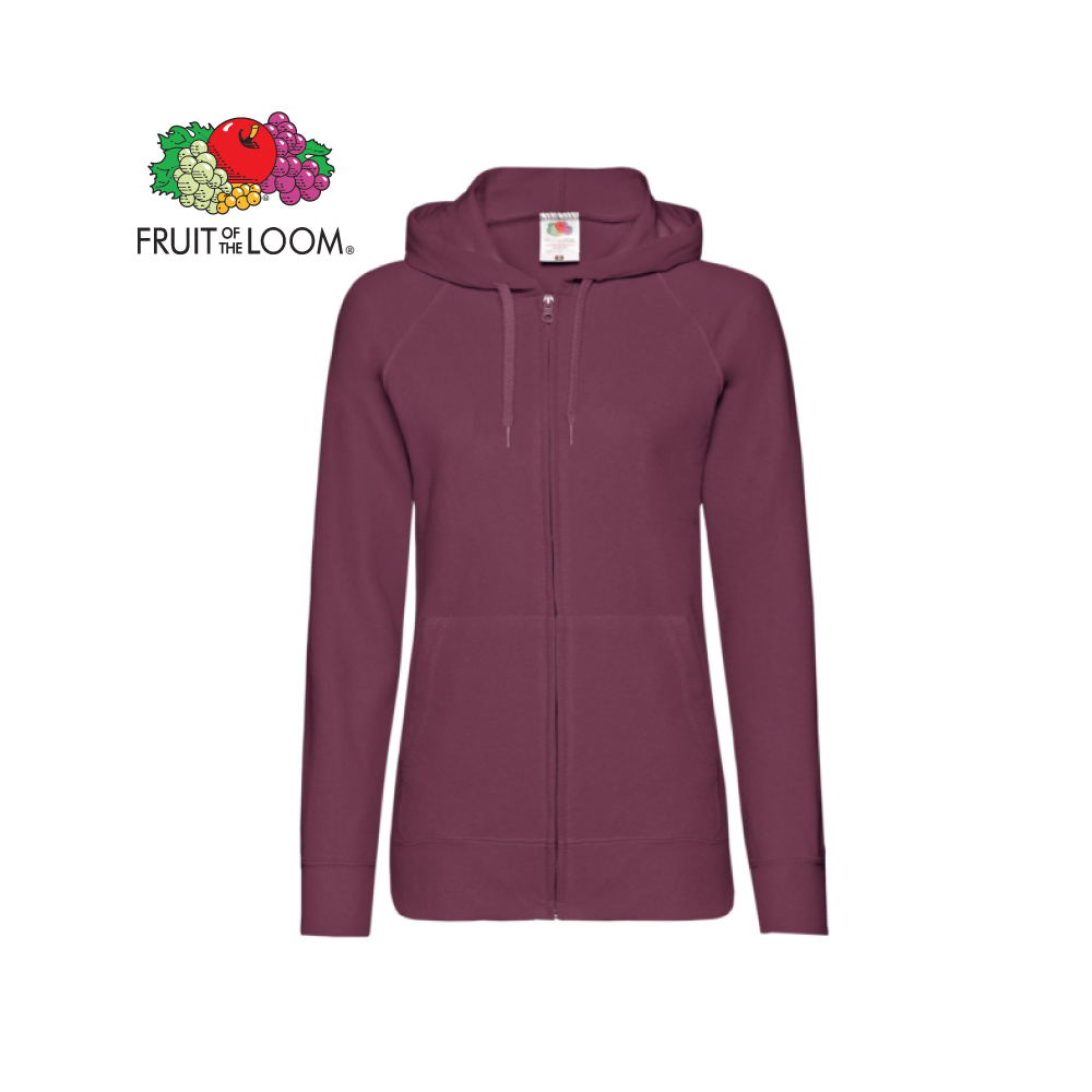 Ladies Light weight Hooded Sweat Jacket, FOL0621500